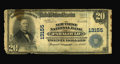 National Bank Notes:Arkansas, Paragould, AR - $20 1902 Plain Back Fr. 662 The New First NB Ch. # 13155. Low grade but very rare, with this bank issuin...