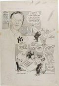 Baseball Collectibles:Others, 1961 Willard Mullin Original Artwork. This editorial artist for TheSporting News is best remembered for his invention of t...