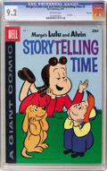 Silver Age (1956-1969):Humor, Dell Giant Comics - Marge's Little Lulu & Alvin Storytelling Time #1 File Copy (Dell, 1959) CGC NM- 9.2 Off-white pages....