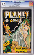 Golden Age (1938-1955):Science Fiction, Planet Comics #56 (Fiction House, 1948) CGC FN/VF 7.0 Off-white towhite pages....