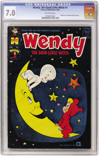 Wendy, the Good Little Witch #1 (Harvey, 1960) CGC FN/VF 7.0, Off-white pages
