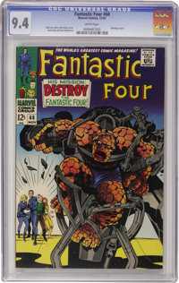 Fantastic Four #68 (Marvel, 1967) CGC NM 9.4 White pages