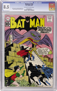 Batman #142 (DC, 1961) CGC VF+ 8.5 Off-white to white pages