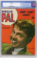 Golden Age (1938-1955):Humor, Hello Pal #1 (Harvey, 1943) CGC VF 8.0 Off-white pages....