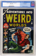 Golden Age (1938-1955):Horror, Adventures Into Weird Worlds #24 Northford pedigree (Atlas, 1953)CGC VF+ 8.5 Cream to off-white pages....