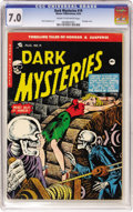 Golden Age (1938-1955):Horror, Dark Mysteries #19 (Master Publications, 1954) CGC FN/VF 7.0 Creamto off-white pages....