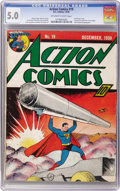 Golden Age (1938-1955):Superhero, Action Comics #19 (DC, 1939) CGC VG/FN 5.0 Off-white to white pages....