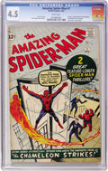 Silver Age (1956-1969):Superhero, The Amazing Spider-Man #1 (Marvel, 1963) CGC VG+ 4.5 Whitepages....