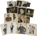 "Movie/TV Memorabilia:Autographs and Signed Items, Vintage Photos of Early Hollywood Actors. Set of 17 vintage b&w8"" x 10"" photos of early stage and screen actors, many of th..."
