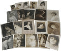 "Movie/TV Memorabilia:Autographs and Signed Items, Vintage Hollywood Actress Photos. Set of 20 vintage b&w photos-- sizes 3"" x 5"" to 8"" x 10"" -- of early stage and screen st..."