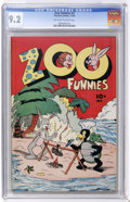 Golden Age (1938-1955):Funny Animal, Zoo Funnies #2 (Charlton, 1945) CGC NM- 9.2 Off-white to whitepages....