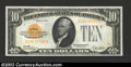 Small Size:Gold Certificates, 1928 $10 Gold Certificate, Fr-2400, Gem CU. This is a very ...