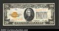 Small Size:Gold Certificates, 1928 $20 Gold Certificate, Fr-2402, Choice-Gem CU. This is a ...