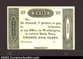 Obsoletes By State:Ohio, 18-- 25¢ Ezra Griswold, Worthington, OH, Choice CU. Unissued ...