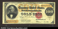 Large Size:Gold Certificates, 1922 $100 Gold Certificate, Fr-1215, VF-XF. A crisp, bright, ...