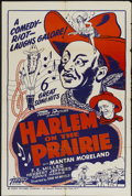 "Movie Posters:Black Films, Harlem on the Prairie (Toddy Pictures, R-1940s). One Sheet (28"" X42""). Black Films...."