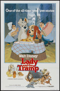 "Movie Posters:Animated, Lady and the Tramp (Buena Vista, R-1980). One Sheet (27"" X 41""). Animated...."