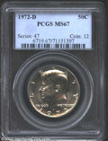 Kennedy Half Dollars: , 1972-D 50C MS67 PCGS. ...