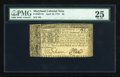 Colonial Notes:Maryland, Maryland April 10, 1774 $8 with low number PMG Very Fine 25....