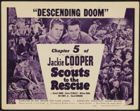 """Scouts to the Rescue (Universal, 1939). Title Lobby Card (11"""" X 14"""") Chapter 5 --""""Descending Doom.""""..."""