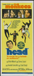 "Movie Posters:Rock and Roll, Head (Columbia, 1968). Australian Daybill (13"" X 30""). Rock andRoll...."