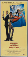 "Movie Posters:James Bond, A View to a Kill (United Artists, 1985). Australian Daybill (13"" X26.5""). James Bond...."