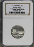 Proof Statehood Quarters: , 2005-S 25C Minnesota Clad PR70 Deep Cameo NGC. PCGS Population (136/0). Numismedia Wsl. Price for NGC/P...