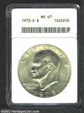 Eisenhower Dollars: , 1973-S $1 Silver MS67 ANACS. ...