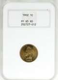 Proof Indian Cents, 1902 1C PR65 Red NGC....