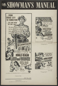 Law and Order (Universal International, 1953). Pressbook (Multiple Pages). Western