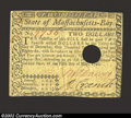 Colonial Notes:Massachusetts, May 5, 1780, $2, Massachusetts, MA-279, VF. This is a punch ...