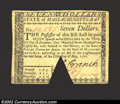 Colonial Notes:Massachusetts, May 5, 1780, $7, Massachusetts, MA-283, XF-AU. This is a ...