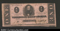 Confederate Notes:1863 Issues, 1863 $1 Clement C. Clay, T-62, VF-XF. ...