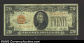Small Size:Gold Certificates, 1928 $20 Gold Certificate, Fr-2402, Fine. An attractive ...
