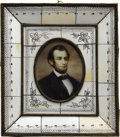 Political:3D & Other Display (pre-1896), Abraham Lincoln: Fine Hand-Painted Victorian Portrait on Ivory. ...