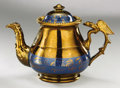 Political:3D & Other Display (pre-1896), American Eagle: Unusual Patriotic Copper Lustre Teapot...