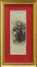 Political:Ribbons & Badges, Martin Van Buren: Rare Silk Campaign Ribbon from 1848. ...
