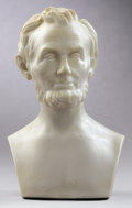 Political:3D & Other Display (pre-1896), Abraham Lincoln: Rare, Very Large Parian Bust, Probably Circa 1864-1865. ...