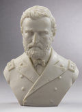 Political:3D & Other Display (pre-1896), Ulysses S. Grant: Large Parian Bust in Military Uniform. ...