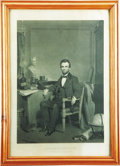 "Political:Posters & Broadsides (pre-1896), Abraham Lincoln: Scarce ""Proof"" Copy of the Sartain Portrait Engraving. ..."