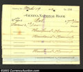 Miscellaneous:Checks, A Group of 19 Checks from the Geneva National Bank, Geneva, NY,...