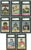 Football Cards:Sets, 1974 Topps Football High Grade Complete Set (528) plus Checklists (26).Offered is a 1974 Topps high grade football set, alon...