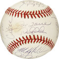 Autographs:Baseballs, 1999 New York Yankees World Champion Team Signed Baseball. Officialorb from the 1999 World Series sports the signatures of...