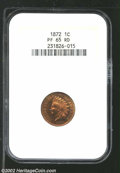Proof Indian Cents: , 1872 1C PR 65 Red NGC. ...