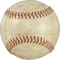 Autographs:Baseballs, 1946 Boston Red Sox Team Signed Baseball. Winners of the AL flag in1946 check in here in the form of 25 Boston Red Sox sig...