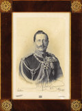 Decorative Prints, European:Prints, Signed Photogravure of Emperor William II. Printed photograph ofKaiser William, Emperor of Germany, (r. 1888-1918) by Rei...