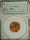 Lincoln Cents, 1972 1C Doubled Die Obverse MS66 Red PCGS....