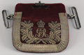 Royal Memorabilia:British, George V Document Pouch . Circa 1915. Applied with theconjoined letters GR for George, Rex, King of GreatBri...