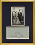Royal Memorabilia, A Christmas Card Signed by Elizabeth II and Prince Philip.Christmas card for 1970, signed by the Queen of England (r. 195...