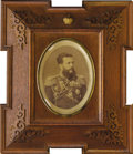 Royal Memorabilia:Russian, Imperial Russian Photograph of Grand Duke Vladimir Alexandrovich inOriginal Frame. Depicting the Grand Duke (1847-1909) i...